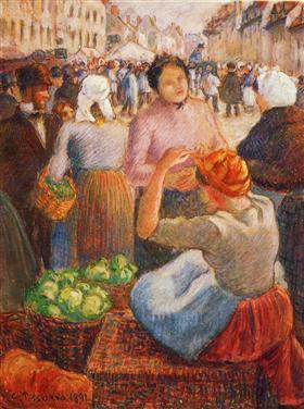 Pissarro_-_marketplace-gisors-1891